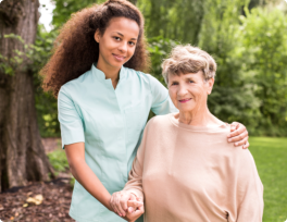 Nurse and her senior patient